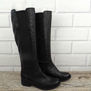 Cole Haan Jodhpur black leather riding boots 4.5